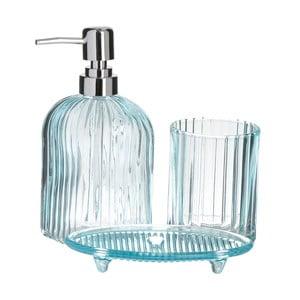 Niebieski 3-częściowy zestaw łazienkowy InArt