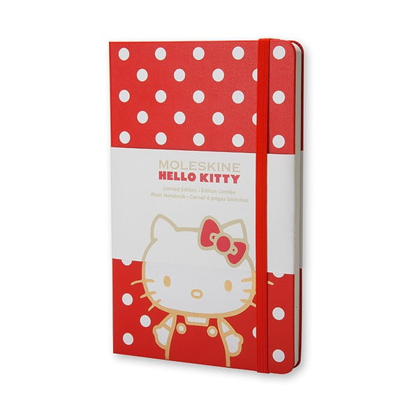 Notatnik gładki Moleskine Hello Kitty, duży