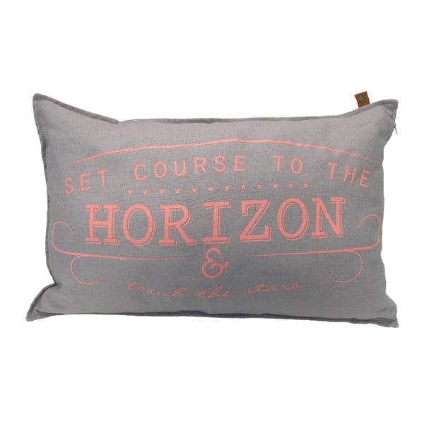 Szara poduszka Overseas Horizon, 40x60 cm