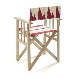 Składane krzesło Director, czerowne