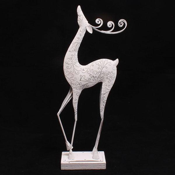 Dekoracyjny metalowy renifer, 47 cm
