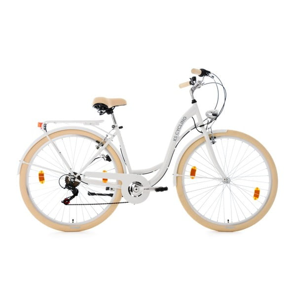 """Rower City Bike Balloon White 28"""", wysokość ramy 48 cm"""
