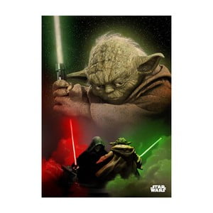 Plakat na blasze Duel of the Fates - Yoda