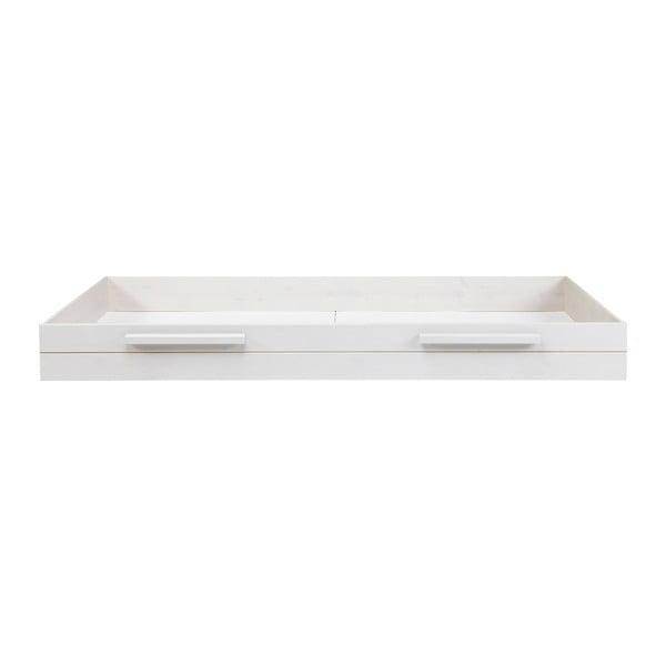 Biała szuflada pod łóżko Robin 90x200 cm