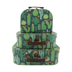 Zestaw 3 kuferków dziecięcych Sass & Belle Cactus