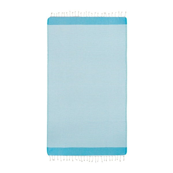 Ręcznik hammam Side Turquoise, 100x180 cm
