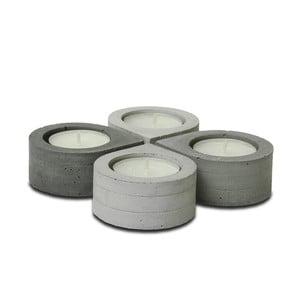 Komplet 4 betonowych świeczników Jakuba Velínskiego Drop