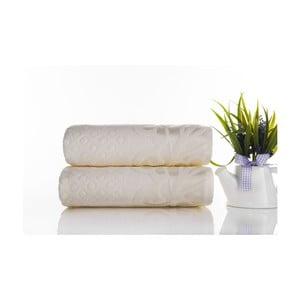 Zestaw 2 ręczników Kumsal Ecru, 50x90 cm