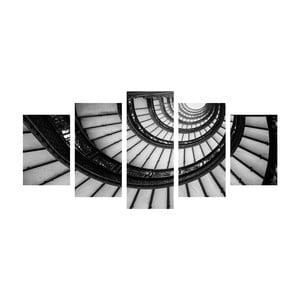 Wieloczęściowy obraz Black&White Stairs, 100x50 cm