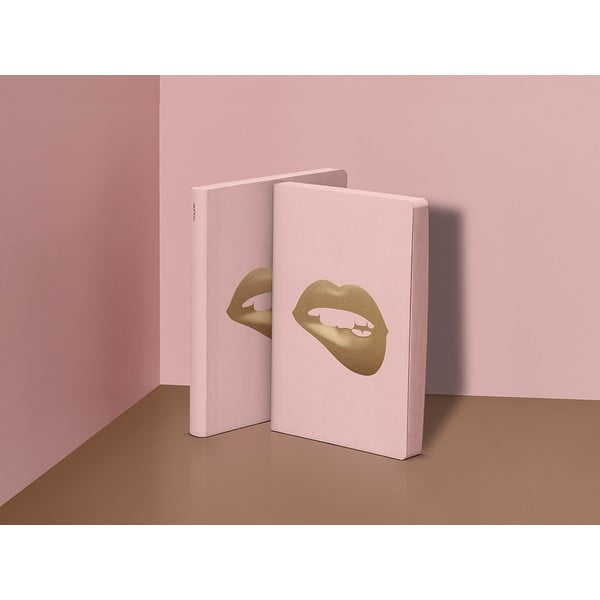 Notes Glossy Lips, 16,5x22 cm