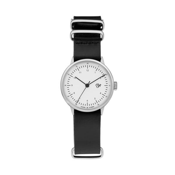Zegarek z czarnym paskiem i białym cyferblatem CHPO Harold Mini