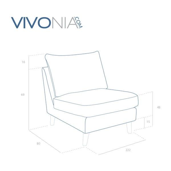 Jasnoszary fotel z jasnymi nogami Vivonita Bill