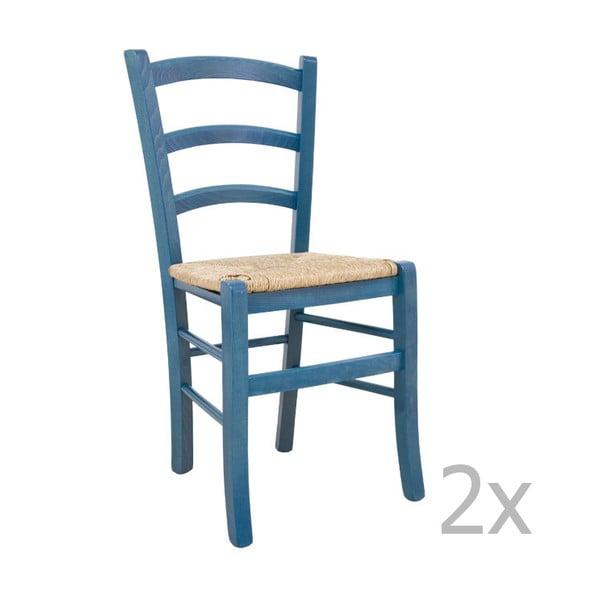 Zestaw 2 krzeseł Castagnetti Lavagna, niebieskie