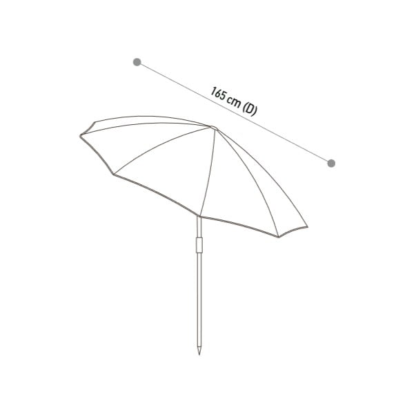 Parasol Rua Kiri Green, 180 cm
