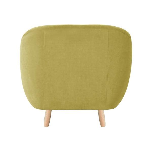 Żółty fotel Jalouse Maison Vicky