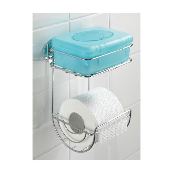 Samoprzyczepny stojak dwupoziomowy na papier toaletowy Turbo, do 40 kg