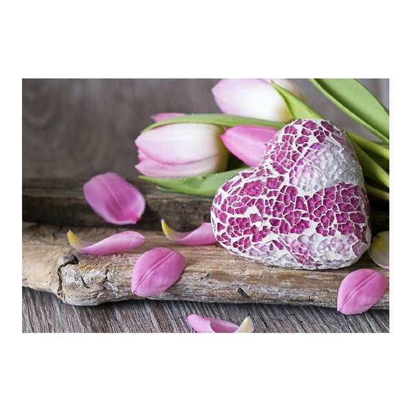 Dywan winylowy Purple Love, 52x75 cm