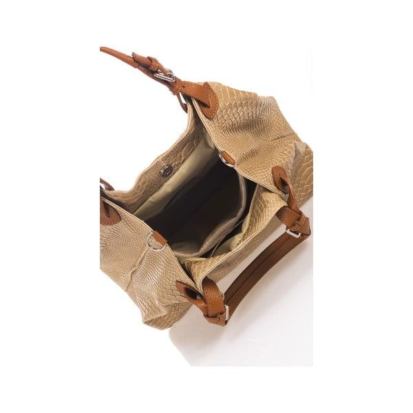 Skórzana torebka Italia 841, kremowa