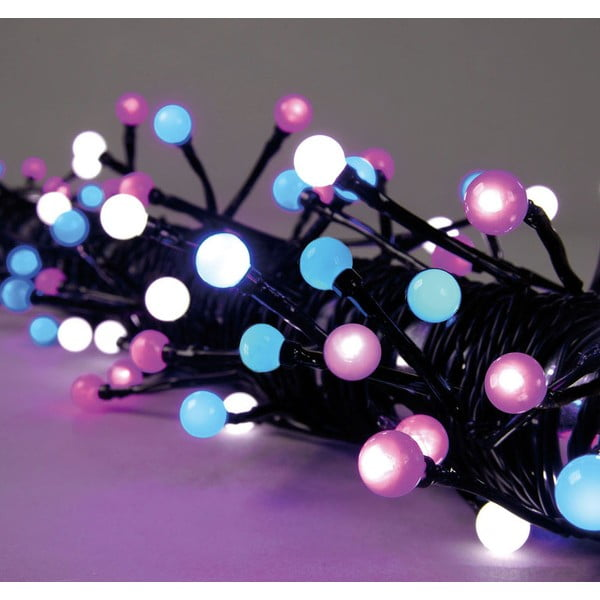 Świecący łańcuch Beads Pink/White/Blue