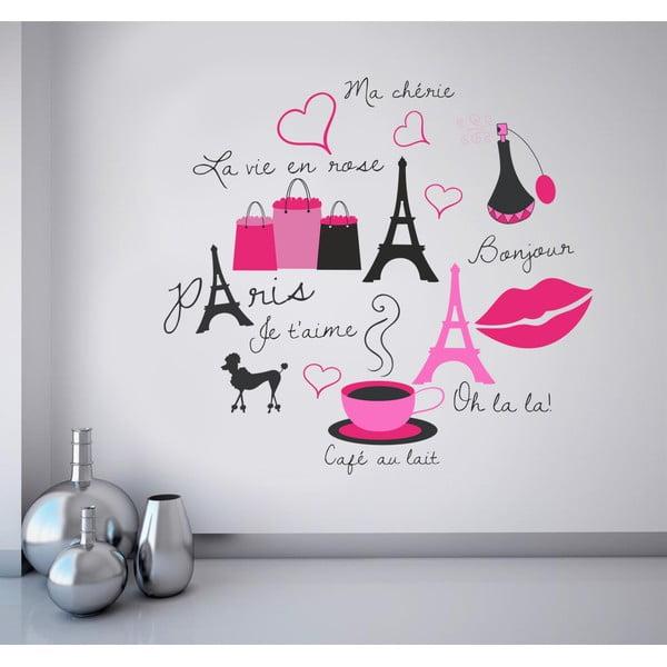 Naklejka na ścianę Symbole Paryża, 60x90 cm