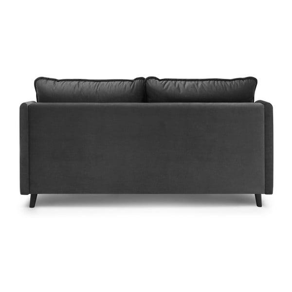 Ciemnoszara 3-osobowa sofa rozkładana Bobochic Paris Loft