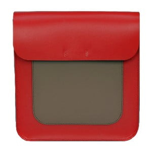 Skórzana torebka Two Tones Red/Chestnut