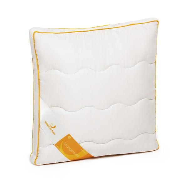 Biała poduszka z wełną merynosową Lana Green Future, 37x37cm