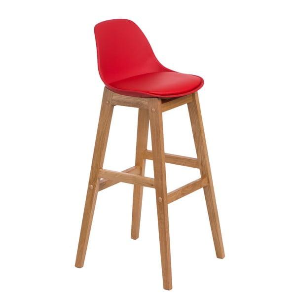 Krzesło barowe D2 Norden Wood, czerwone
