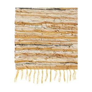 Skórzany dywan Nordal 110x170 cm, brązowy