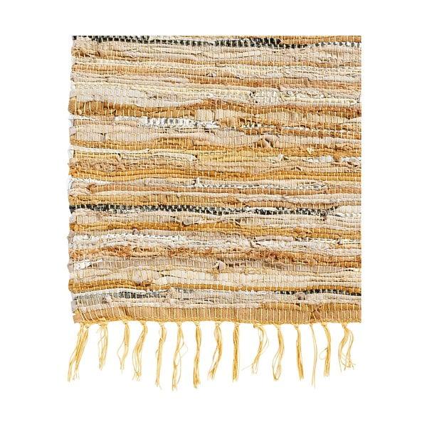 Skórzany dywan Nordal 200x300 cm, brązowy