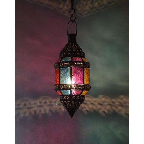 Lampion szklany Goa 15x38 cm
