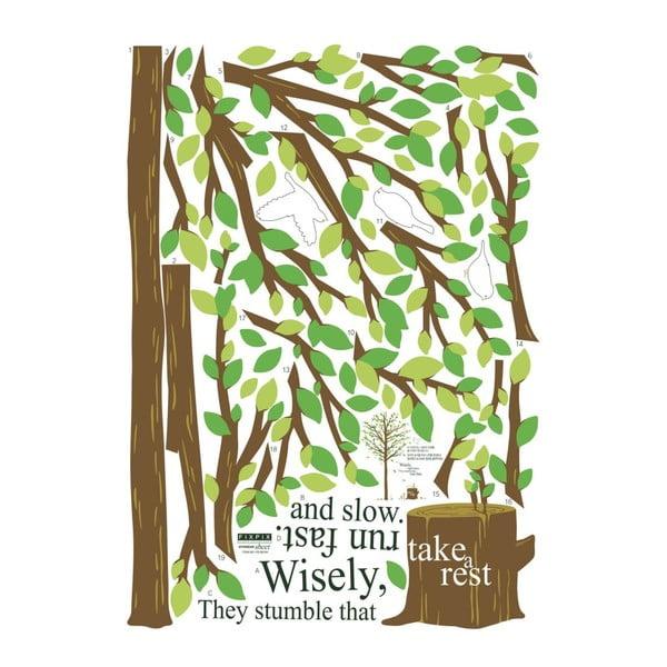 Naklejka Ambiance Green Tree and Bird