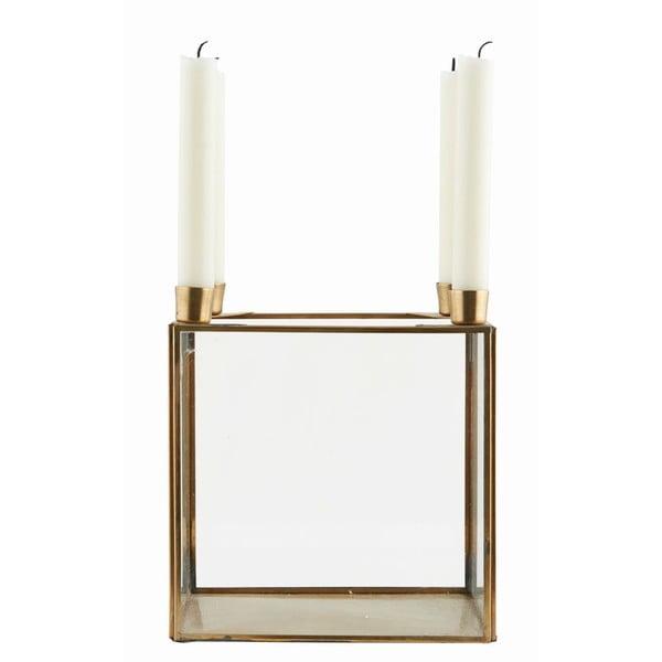 Świecznik Square Brass, 20x22 cm