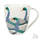 Zestaw 2 kubków Churchill China Paradise Swans, 500 ml