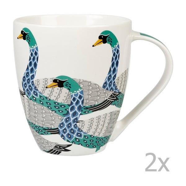 Zestaw 2 kubków Churchill China Paradise Swans, 500 ml