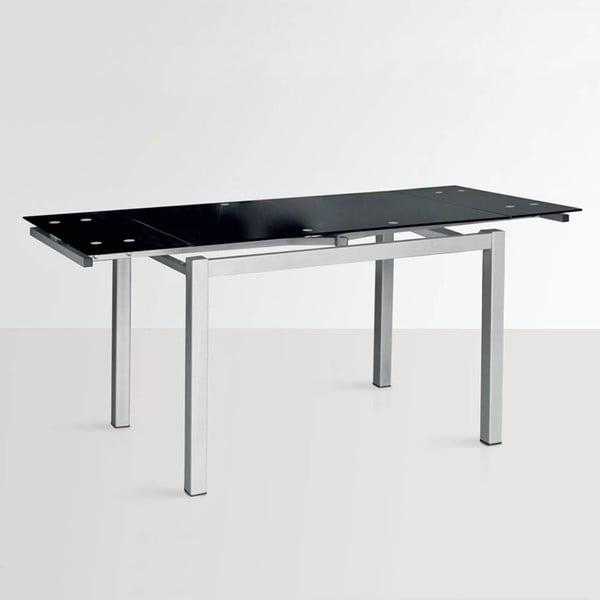 Stół rozkładany Queen, 110-170 cm, czarny