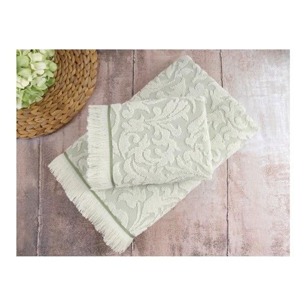 Zestaw 2 zielonych ręczników Irya Home Royal, 50x90 cm