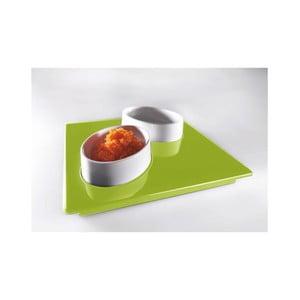 Zestaw do serwowania Entity Green, 15x15 cm