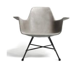 Niski betonowy fotel Lyon Béton Hauteville