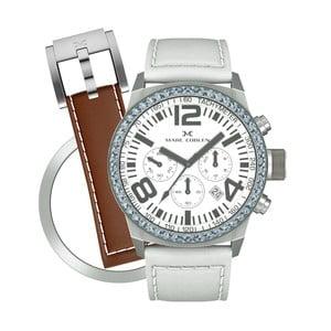 Zegarek damski Marc Coblen z dodatkowym paskiem i obręczą P103