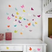 Zestaw naklejek ściennych Butterflies