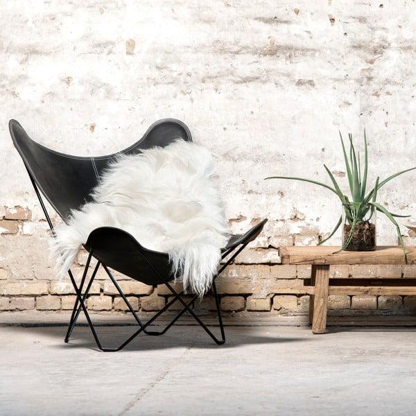 Skóra dekoracyjna z owcy islandzkiej White, 40x40 cm