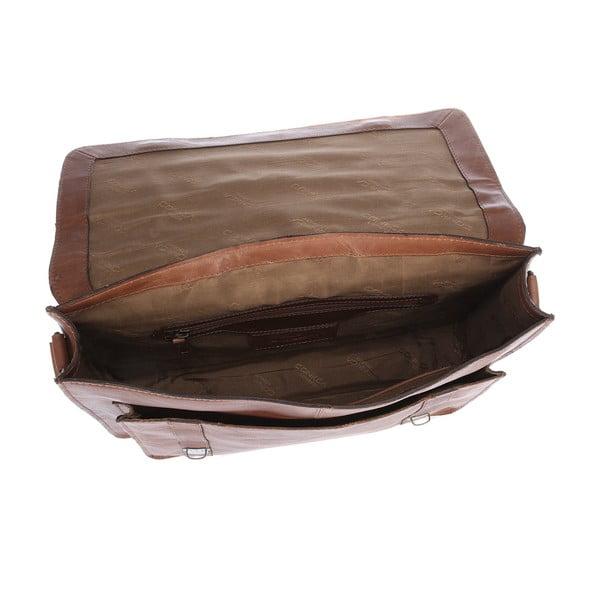Męska torba skórzana Ealing Chestnut Satchel