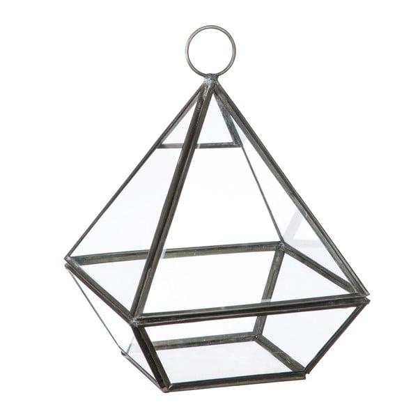 Szklana witrynka/ doniczka Stand Glass Grey, 22 cm