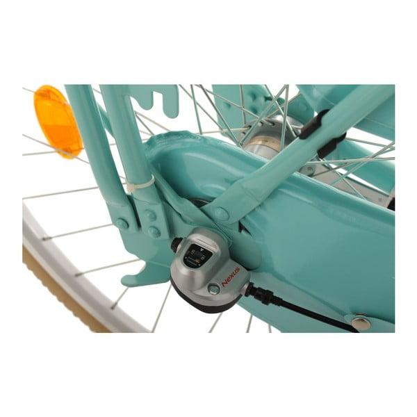 """Rower Tussaud Green 28"""" z przednim bagażnikiem, wysokość ramy 54 cm, 3 biegi"""