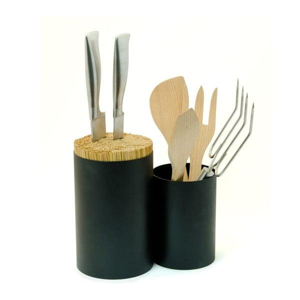 Pojemnik na noże i przybory kuchenne Knife&Spoon Black