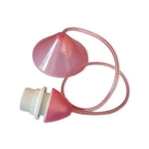 Kabel do abażuru Beweglicht, różowy, 80 cm