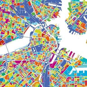 Obraz Homemania Maps Boston, 60x60 cm