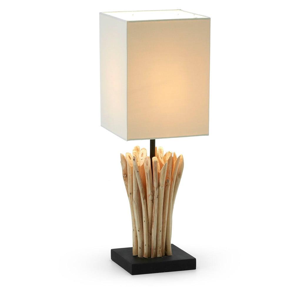 Beżowa lampa stołowa La Forma Poob
