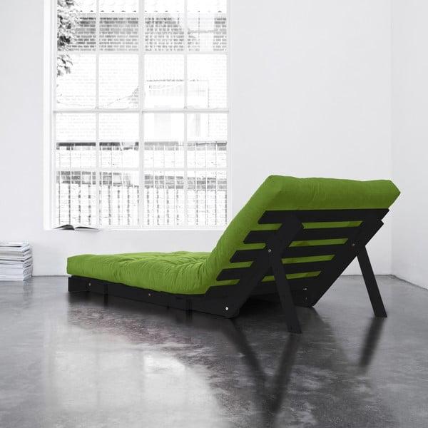Fotel rozkładany Karup Roots Wenge/Lime